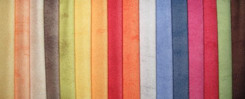 Tissu peau de p che anti t ches t flon 100 polyester - Tache de gras sur coton couleur ...