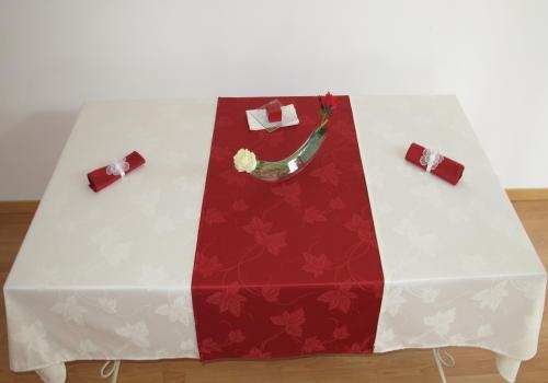Nappes rectangulaires anti taches teflon 3 modules, avec rallonge de couleur