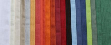 NAPPE SUR MESURE GAMME TOSCANA Aspect Lin anti taches teflon 100% Polyester laize 320cm