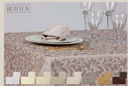 NAPPE SUR MESURE GAMME ROSTOW 60% Polyester 40%Coton laize 325cm poids 226gr m2 nombreux coloris