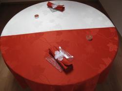 Nappes rondes anti taches teflon 2 modules différentes couleurs Diam 180cm